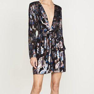 NWT Ramy Brook Lurex Jacquard Shaina Dress